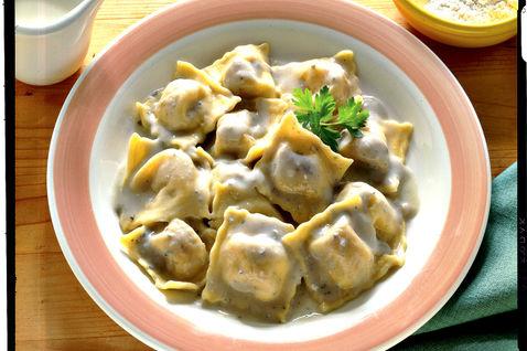 raviolis potiron roquefort